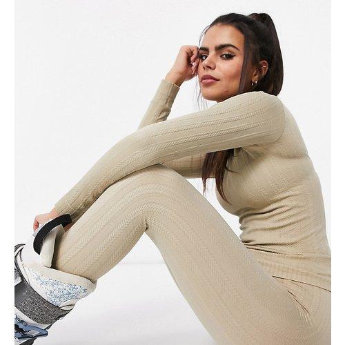 Petite - Legging de sous-vêtements en maille torsadée - ASOS 4505 - Modalova