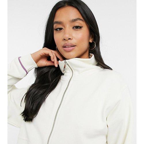 Petite - Sweat-shirt oversize zippé à col cheminée - ASOS 4505 - Modalova