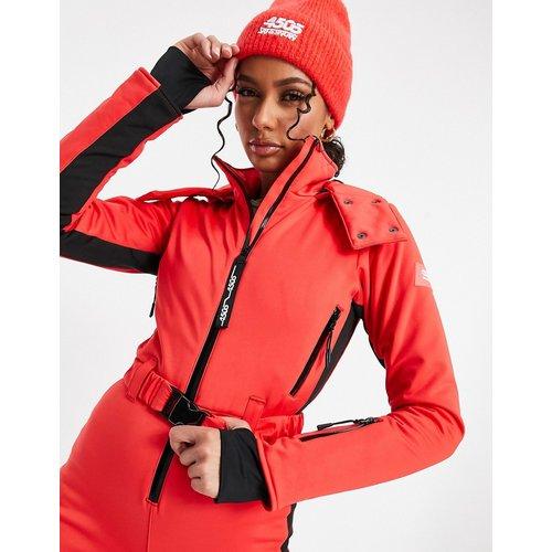 Ski - Combinaison de ski ajustée à capuche, ceinture et bande latérale - ASOS 4505 - Modalova