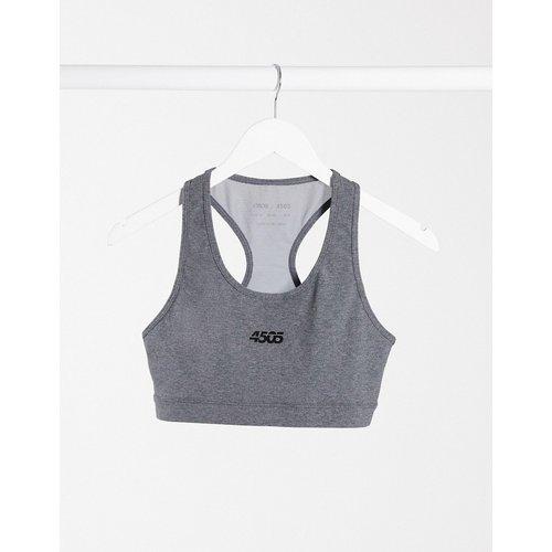 Soutien-gorge de sport en coton à encolure dégagée et logo emblématique - ASOS 4505 - Modalova