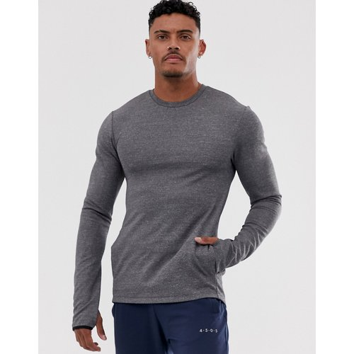 Sweat-shirt moulant de sport - chiné - ASOS 4505 - Modalova