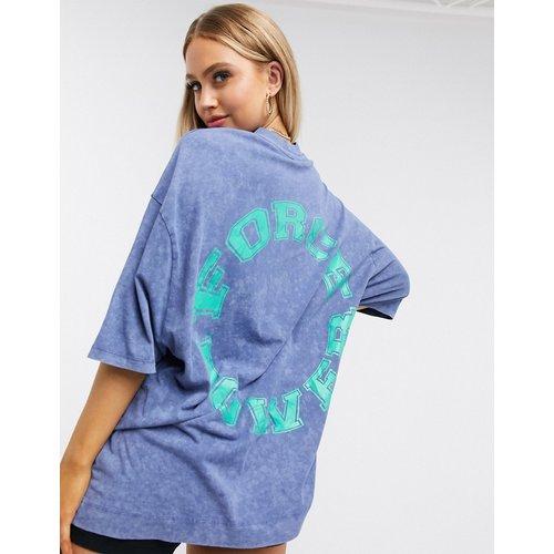 T-shirt ample délavé à l'acide avec imprimé graphique - ASOS 4505 - Modalova