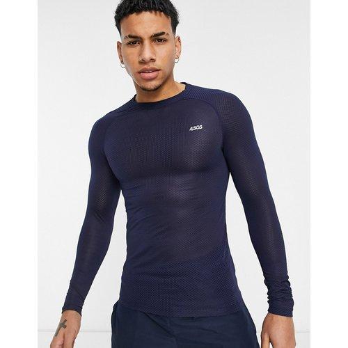 T-shirt de sous-vêtement en tulle à manches longues - ASOS 4505 - Modalova