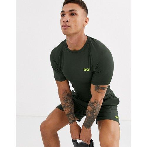 T-shirt de sport moulant emblématique en tissu à séchage rapide - Kaki - ASOS 4505 - Modalova