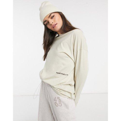 T-shirt oversize imprimé à manches longues - ASOS 4505 - Modalova