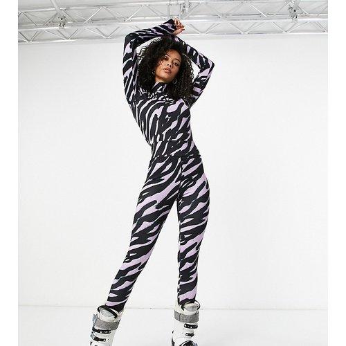 Tall - Legging de sous-vêtement à imprimé animal - Rose - ASOS 4505 - Modalova