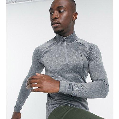 Tall - Sweat-shirt de sport moulant en tissu à séchage rapide - chiné - ASOS 4505 - Modalova