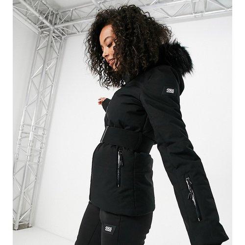 Tall - Veste de ski avec ceinture et capuche bordée de fausse fourrure - ASOS 4505 - Modalova