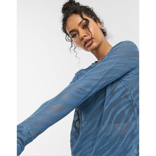 Top manches longues ample en tissu transparent motif zébré - ASOS 4505 - Modalova