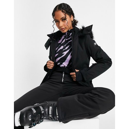 Veste de ski à ceinture avec capuche bordée de fausse fourrure - ASOS 4505 - Modalova