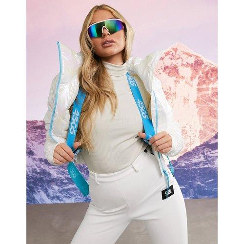 Veste de ski courte métallisée à col cheminée avec ceinture - ASOS 4505 - Modalova