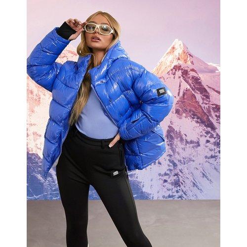 Veste de ski matelassée très brillante à col cheminée - ASOS 4505 - Modalova