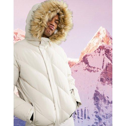 Veste de ski rembourrée avec bordure en fausse fourrure - ASOS 4505 - Modalova