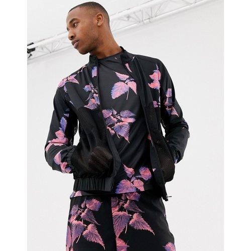 Veste de survêtement à imprimé floral avec empiècements d'aération - ASOS 4505 - Modalova