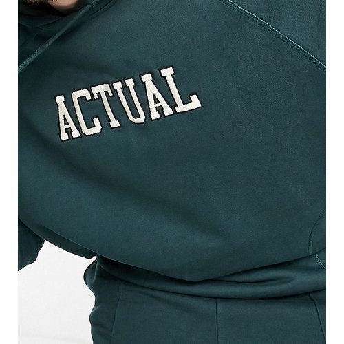 Plus - Hoodie oversize à logo brodé (ensemble) - ASOS Actual - Modalova