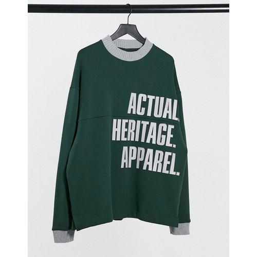 Sweat-shirt oversize à col cheminée et logo - ASOS Actual - Modalova