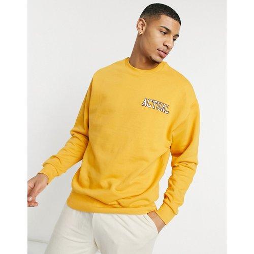 Sweat-shirt oversize à logo brodé - Moutarde - ASOS Actual - Modalova