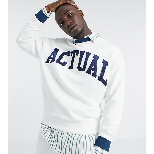 Tall - Sweat-shirt oversize avec logo appliqué - ASOS Actual - Modalova