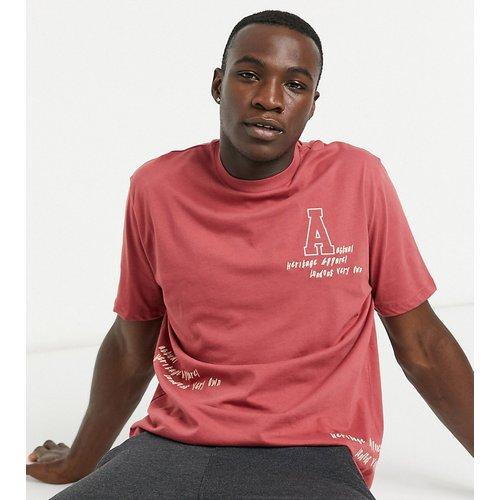 Tall - T-shirt décontracté avec logo brodé sur l'ensemble - ASOS Actual - Modalova