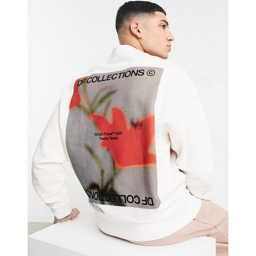 ASOS - Dark Future - Sweat-shirt oversize col cheminée avec imprimé graphique au dos - ASOS Dark Future - Modalova