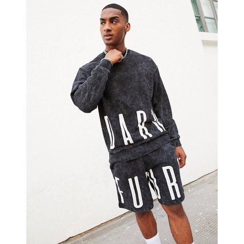 ASOS - Dark Future - Sweat-shirt oversize - délavé (ensemble) - ASOS Dark Future - Modalova