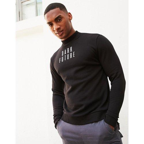 ASOS - Dark Future - Sweat-shirtcol montant avec petit logo - ASOS Dark Future - Modalova