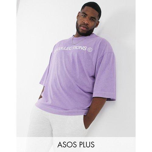 ASOS - Dark Future - T-shirt grande taille oversize en tissu épais avec imprimé logo et col renforcé - ASOS Dark Future - Modalova
