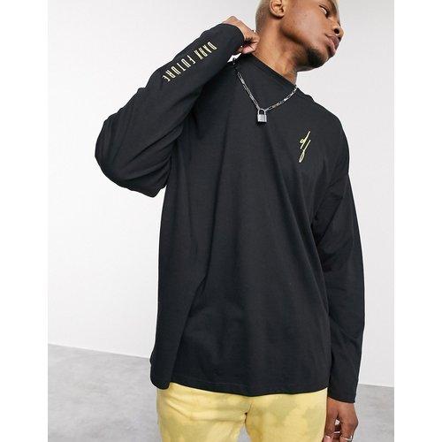 ASOS - Dark Future - T-shirt oversize à manches longues avec logo Dark Future sur le devant, la manche et au dos - ASOS Dark Future - Modalova