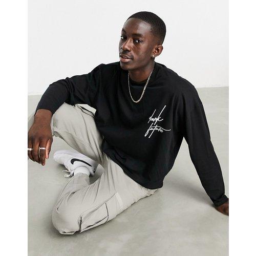 T-shirt oversize à manches longues - ASOS Dark Future - Modalova