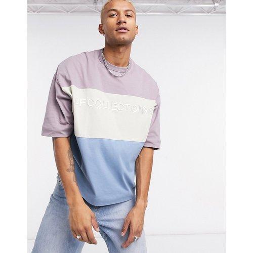 T-shirt oversize en jersey épais effet color block avec logo imprimé «DF Collections» - ASOS Dark Future - Modalova