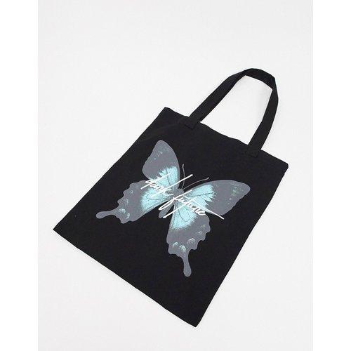 ASOS Dark Future - Tote bag épais à imprimé papillon - ASOS DESIGN - Modalova