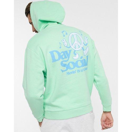 ASOS -DaySocial - Hoodie oversizeà capuche avec détail inséré et logo - ASOS Day Social - Modalova