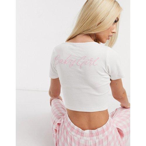 Baby girl - T-shirt de pyjama côtelé - ASOS DESIGN - Modalova