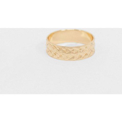 Bague à anneau texturé - ASOS DESIGN - Modalova