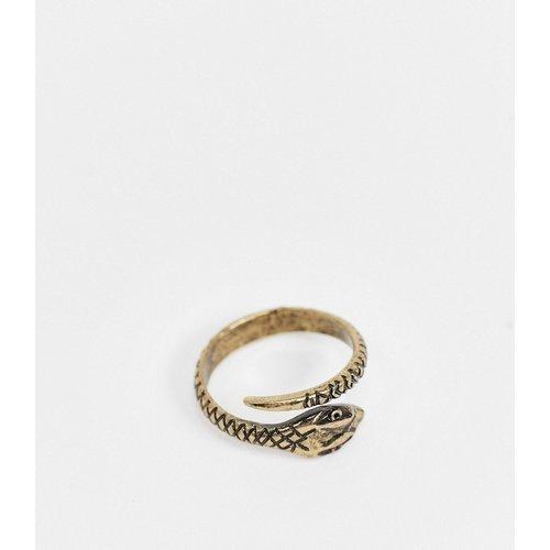 Bague avec serpent enroulé - Or brûlé - ASOS DESIGN - Modalova