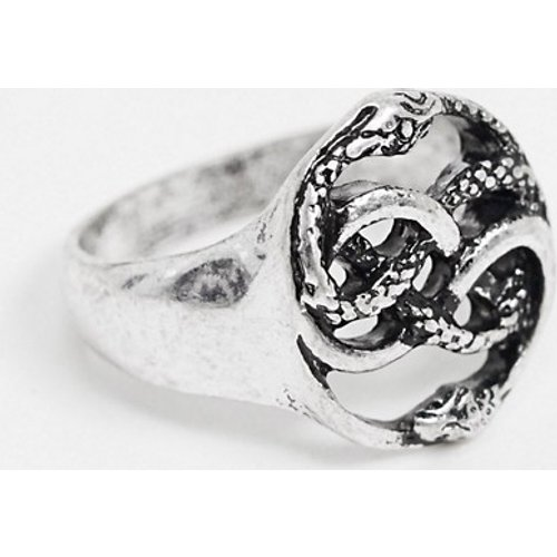 Bague serpents - Argent poli - ASOS DESIGN - Modalova