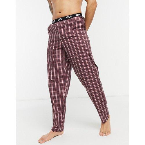 Bas de pyjama confort à carreaux - ASOS DESIGN - Modalova