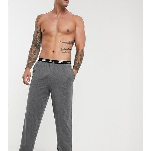 Bas de pyjama confort à taille griffée - Anthracite chiné - ASOS DESIGN - Modalova