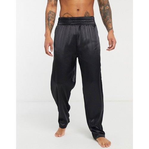 Bas de pyjama confort - Satin noir - ASOS DESIGN - Modalova