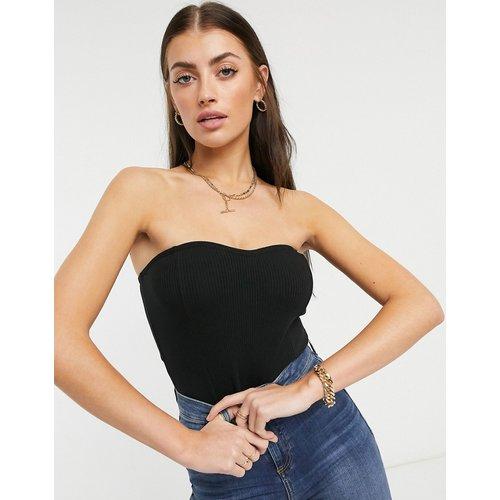 Body bandeau côtelé avec corset - ASOS DESIGN - Modalova