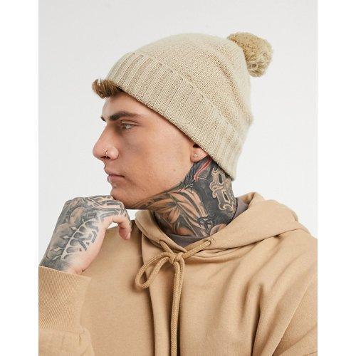 Bonnet à pompon - Écru - ASOS DESIGN - Modalova