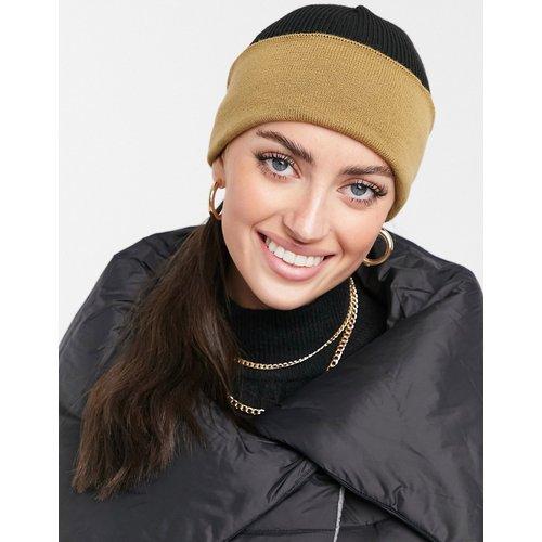 Bonnet color block - Fauve et noir - ASOS DESIGN - Modalova