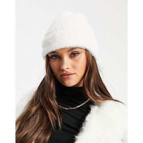 Bonnet duveteux côtelé - ASOS DESIGN - Modalova