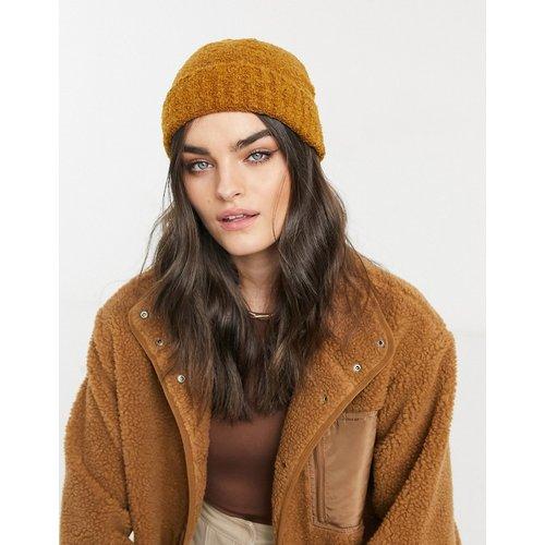 Bonnet style pêcheur en laine mélangée bouclée - Tabac - ASOS DESIGN - Modalova
