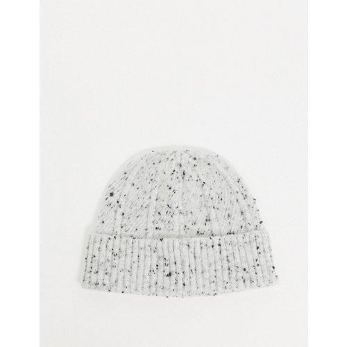 Bonnet style pêcheur en maille côtelée - Gris/ moucheté - ASOS DESIGN - Modalova