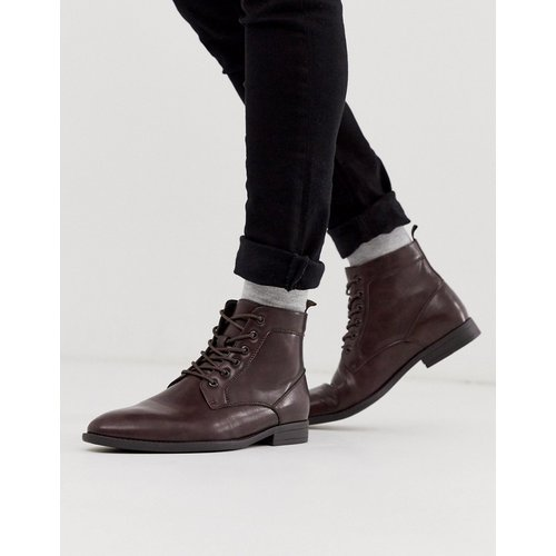 Bottines à lacets en similicuir - ASOS DESIGN - Modalova