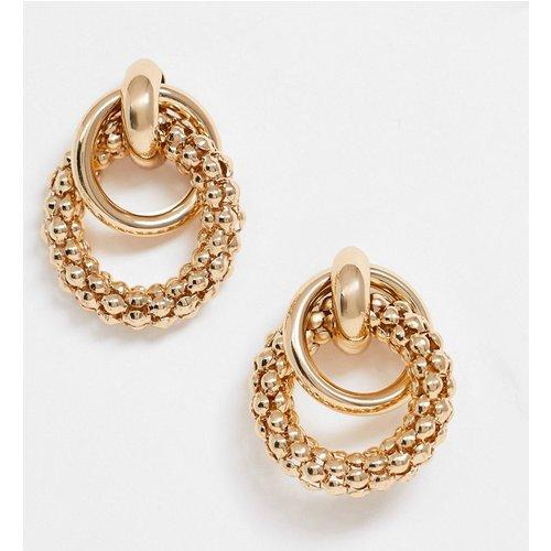 Boucles d'oreilles à anneaux entrelacés et texturés - ASOS DESIGN - Modalova