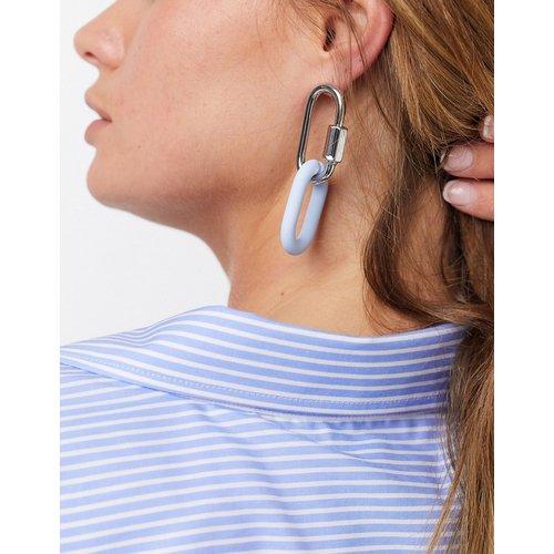 Boucles d'oreilles à maillons métalliques pastel - ASOS DESIGN - Modalova