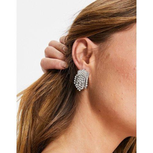 Boucles d'oreilles avec amas de cristaux - é - ASOS DESIGN - Modalova