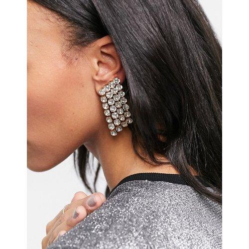 Boucles d'oreilles avec bijoux et pendants ornés de cristaux - ASOS DESIGN - Modalova